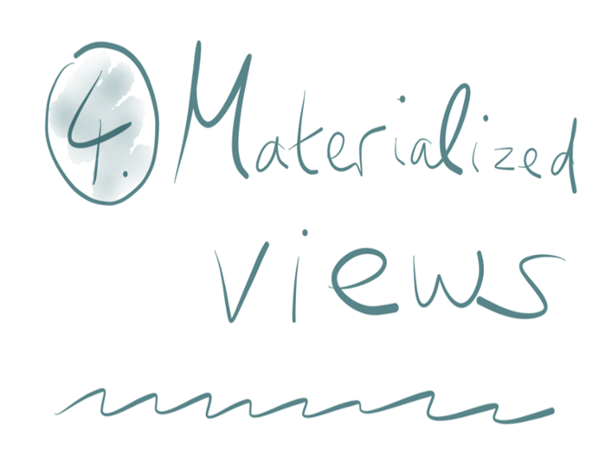 4. Materialized views