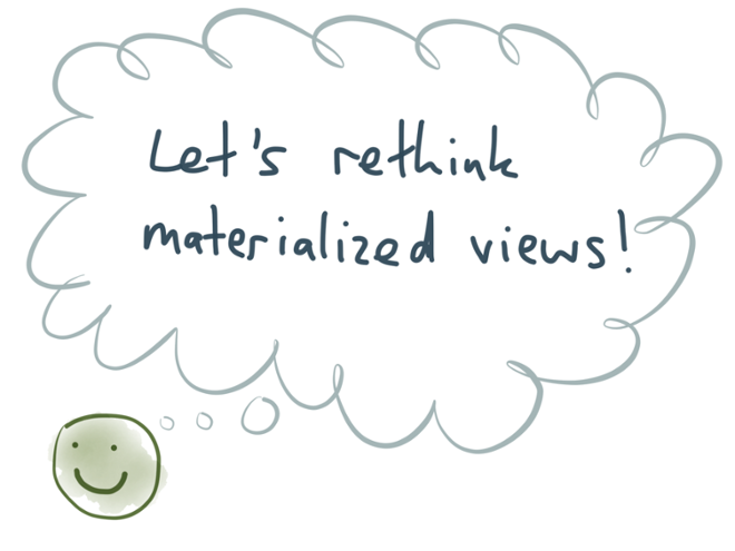 Let's rethink materialized views!