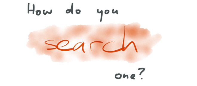 How do you search a stream?