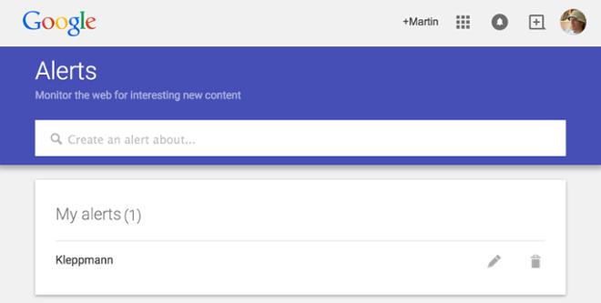 Example: Google alerts
