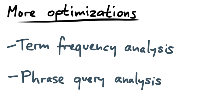 Term frequency analysis and phrase query analysis