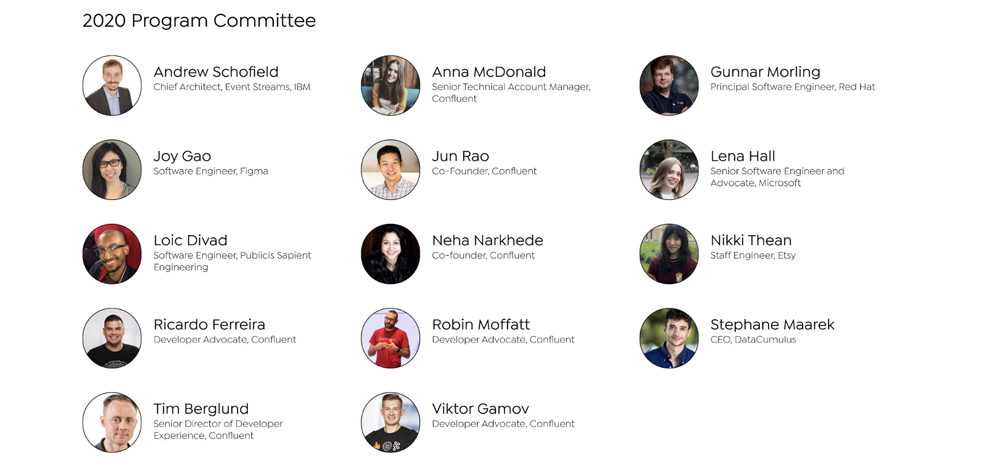 Kafka Summit 2020 Program Committee