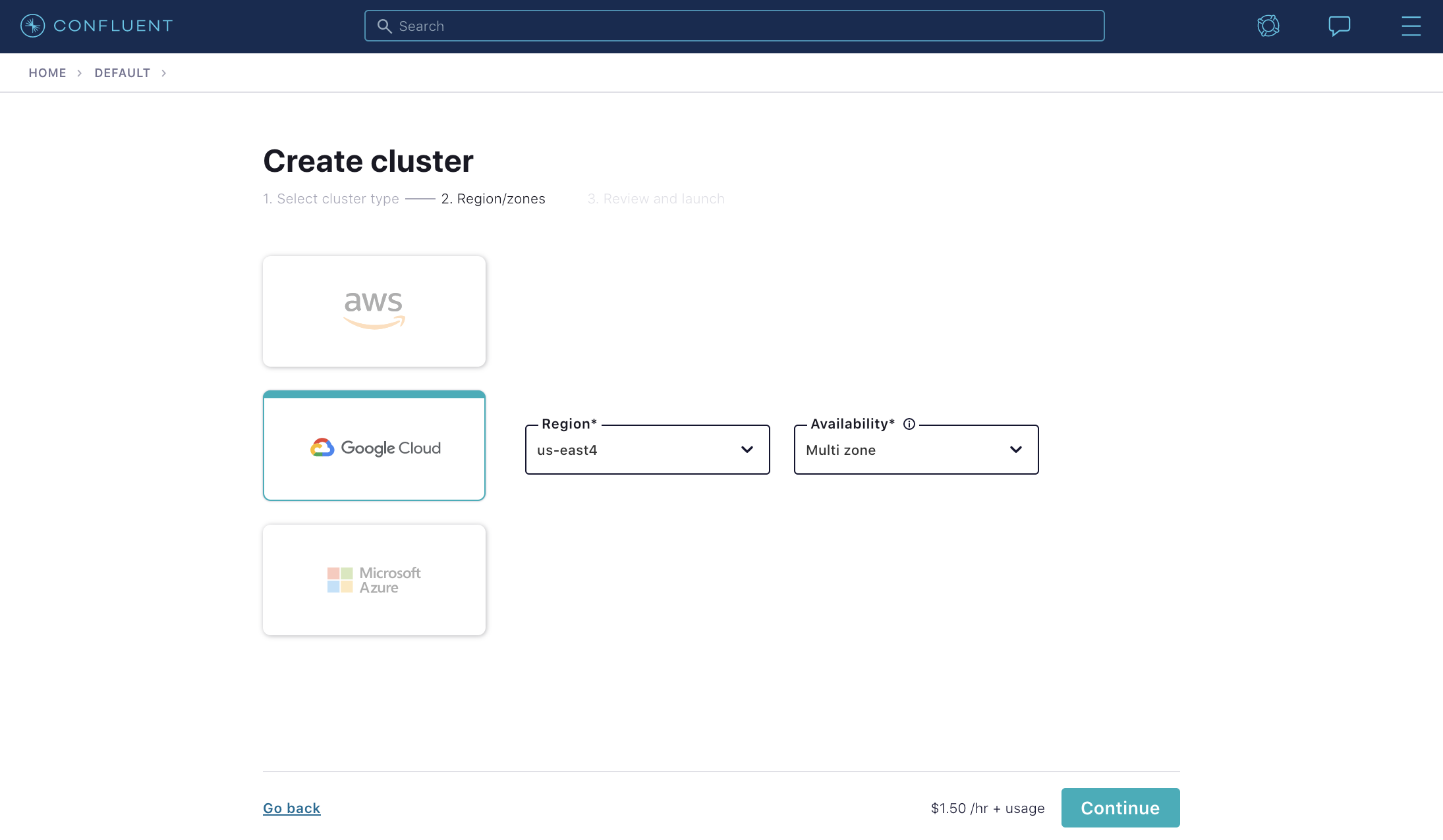 Sneak peak of Confluent Cloud