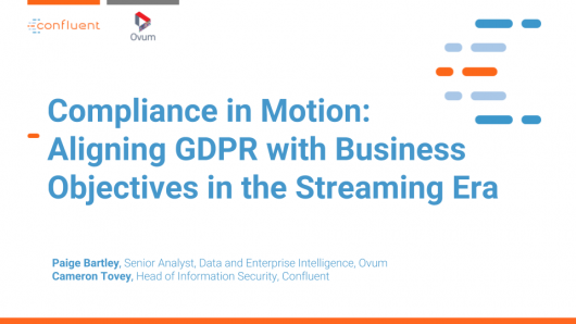 Compliance in Motion: Aligning Data Governance Initiatives with Business Objectives in the Streaming Era