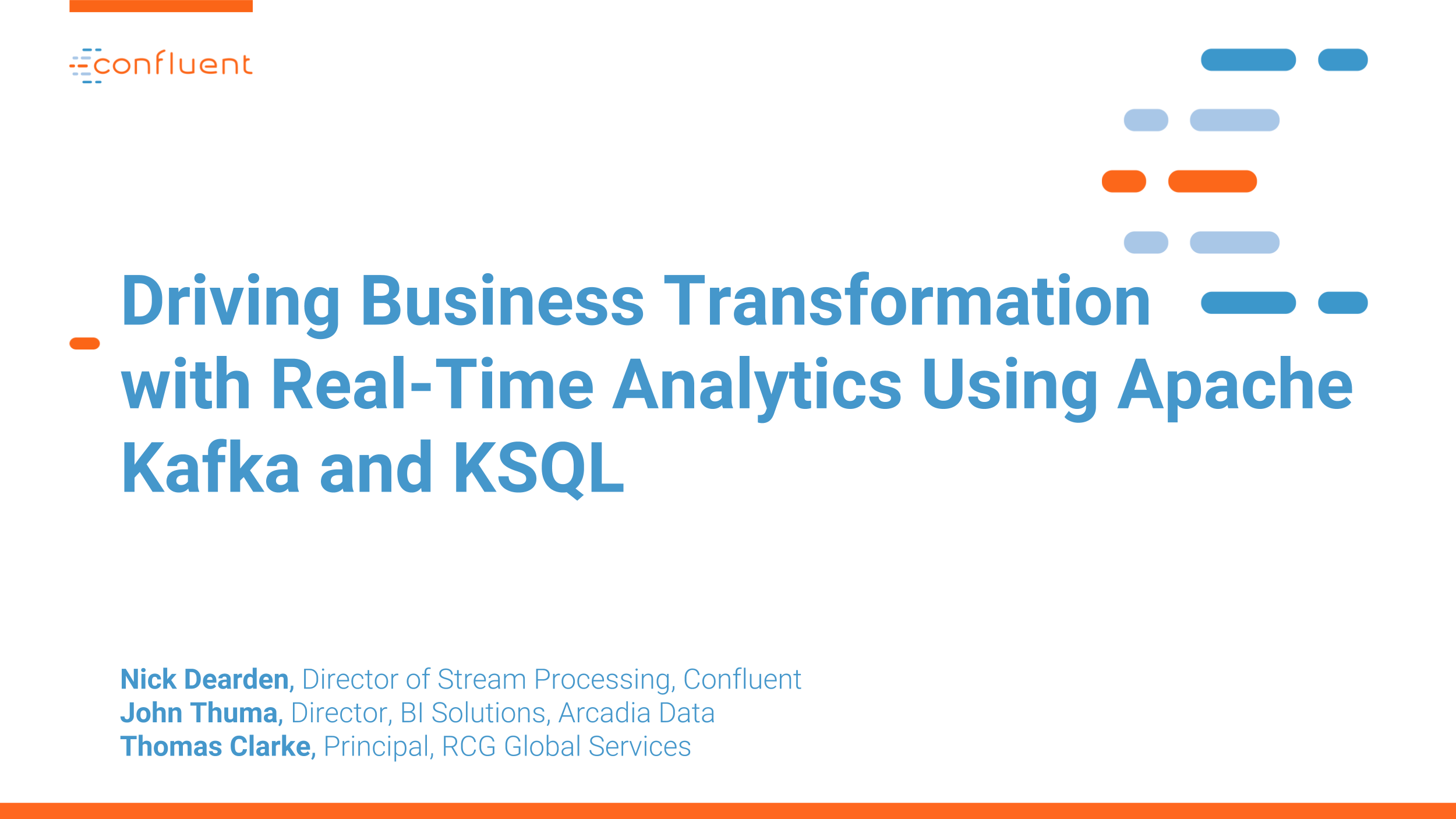 Driving Business Transformation with Real-Time Analytics Using Apache Kafka and KSQL