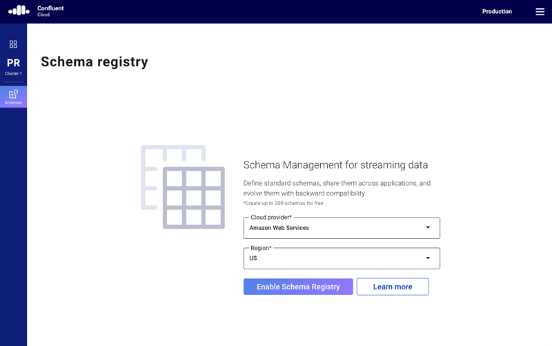 Confluent Cloud Schema Registry | AWS
