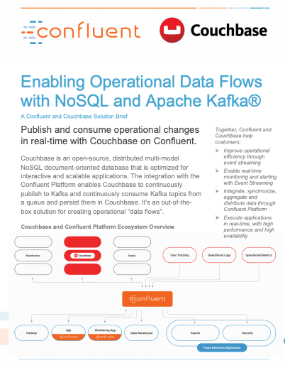 Enabling Operational Data Flows with NoSQL - Couchbase and Confluent