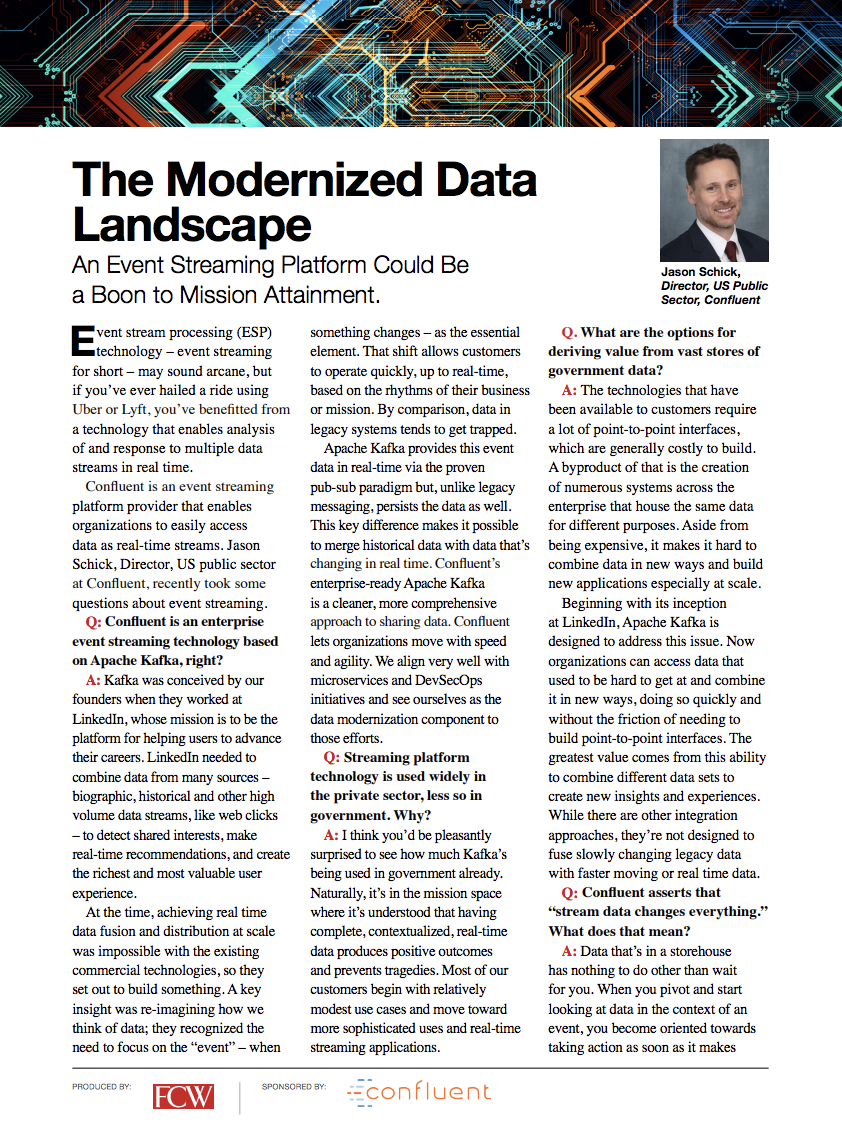 Federal Computer Week: The Modernized Data Landscape
