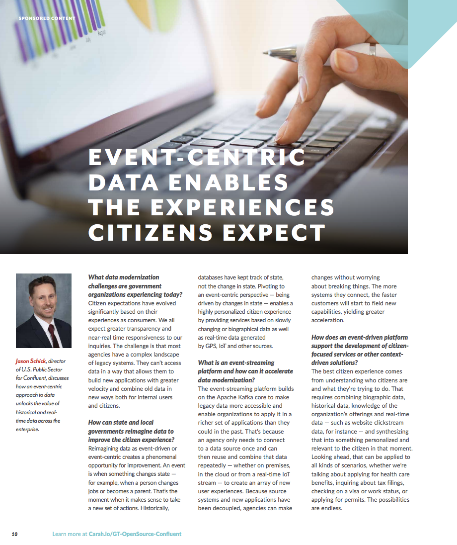 Event-Centric Data Enables the Experiences Citizens Expect