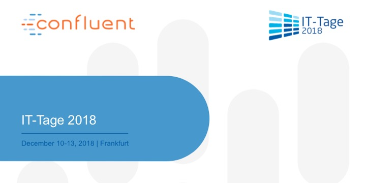 Book an appointment with the Kafka experts at IT-Tage 2018 Frankfurt