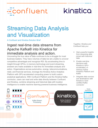 Streaming Data Analysis and Visualization - Kinetica and Confluent