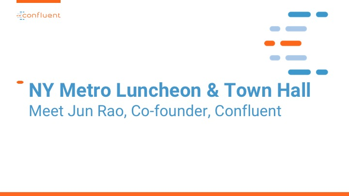 NY Metro Luncheon & Town Hall