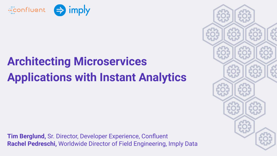 Architecting Microservices Applications with Instant Analytics