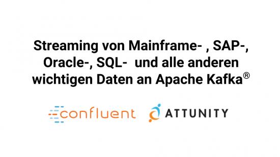 Streaming von Mainframe- , SAP-, Oracle-, SQL- und alle anderen wichtigen Daten nach Apache Kafka ®