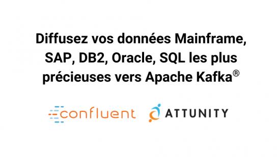 Diffusez vos données Mainframe, SAP, DB2, Oracle, SQL les plus précieuses vers Apache Kafka ®