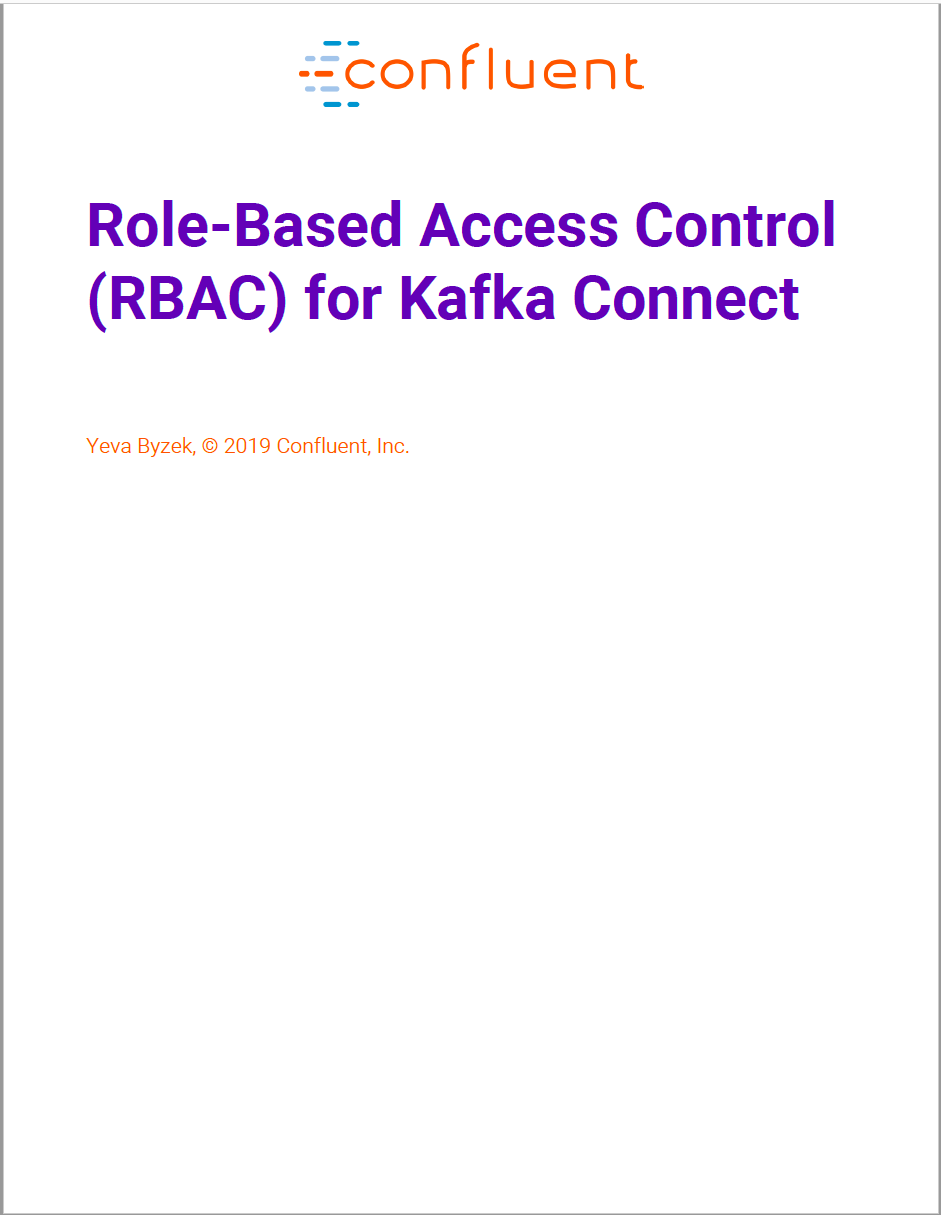 Role-Based Access Control (RBAC) for Kafka Connect