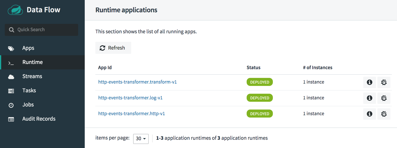 Runtime applications