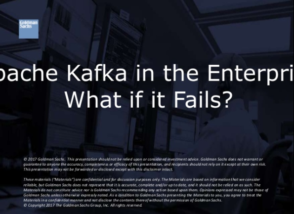 Kafka in the Enterprise: What if it Fails?