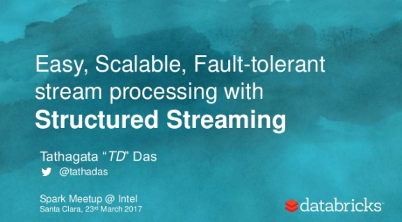 Easy, Scalable, Fault-tolerant Stream Processing with Kafka and Spark's Structured Streaming