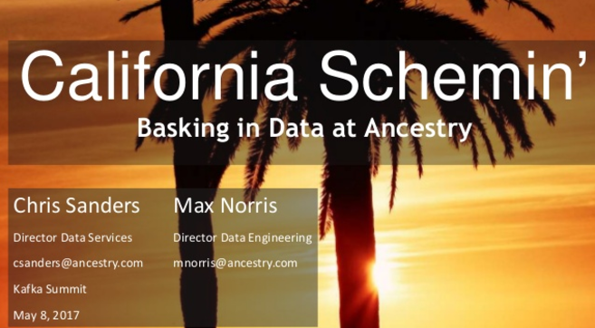 California Schemin'! How the Schema Registry has Ancestry Basking in Data