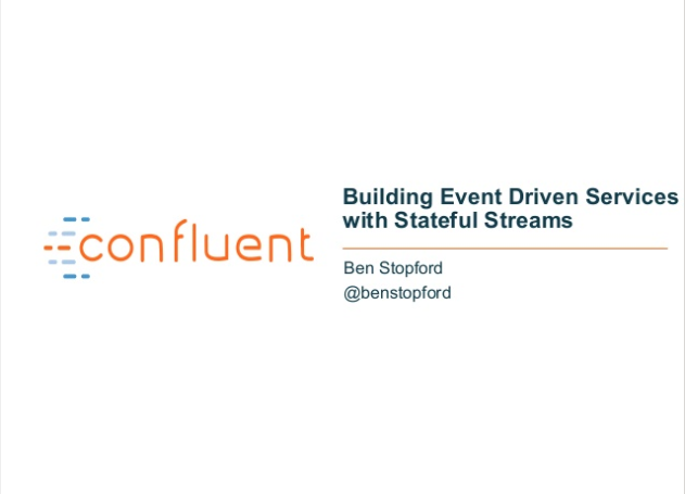 Building Event-Driven Services with Stateful Streams