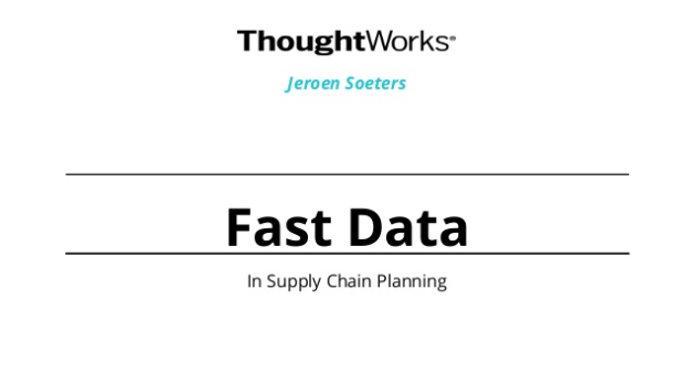 Fast Data in Supply Chain Planning