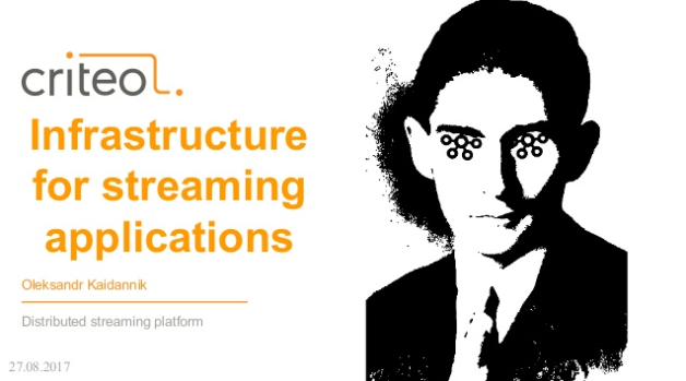 Infrastructure for Streaming Applications in Criteo