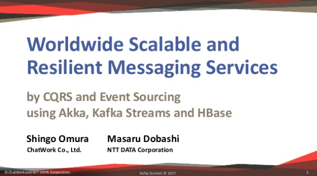 Worldwide Scalable and Resilient Messaging Services with Kafka and Kafka Streams