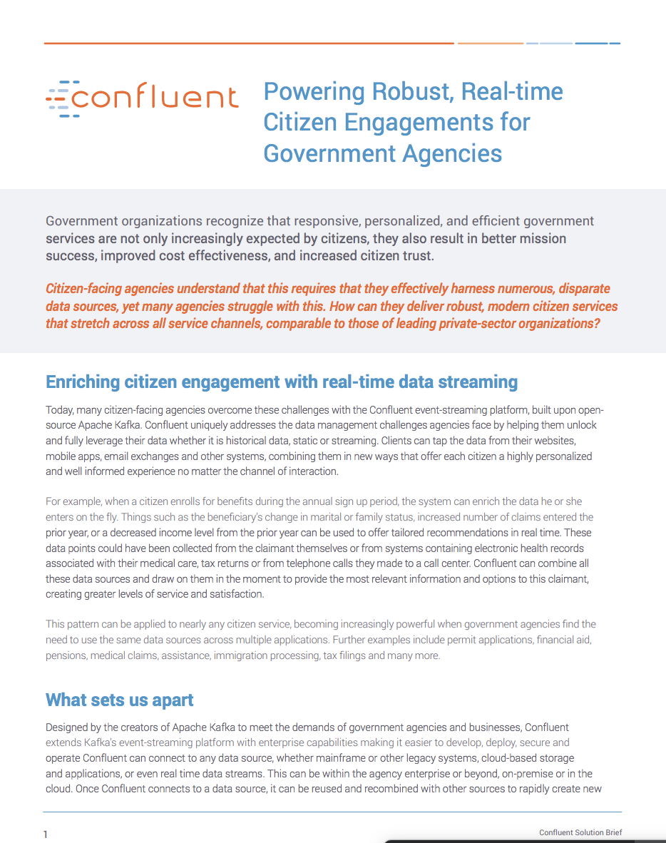 Powering Robust, Real-time Citizen Engagements for Government Agencies