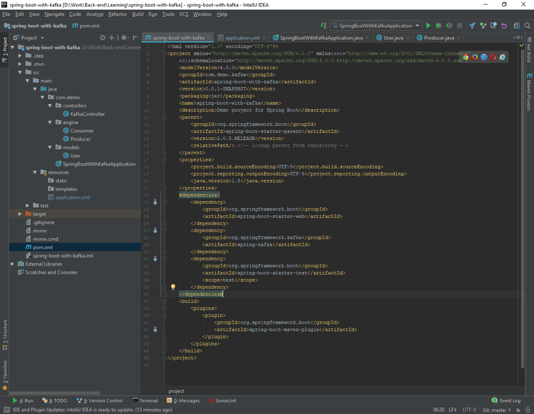 Spring Boot with Kafka – Intellij IDEA