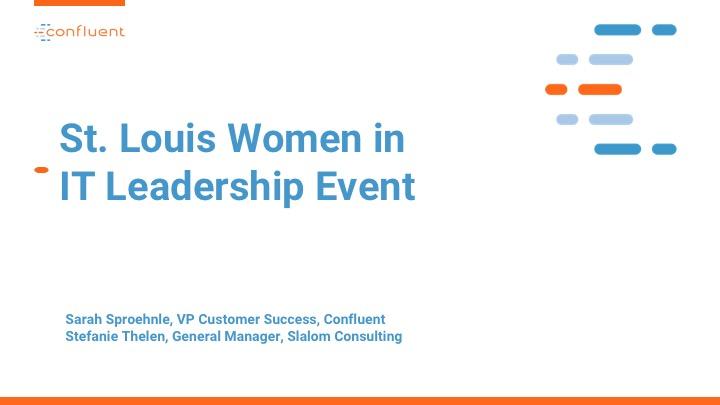 St. Louis Women in IT Leadership Event