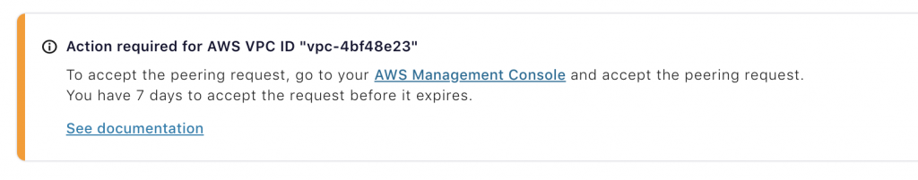 "Action required for AWS VPC ID ""vpc-4bf48e23"""