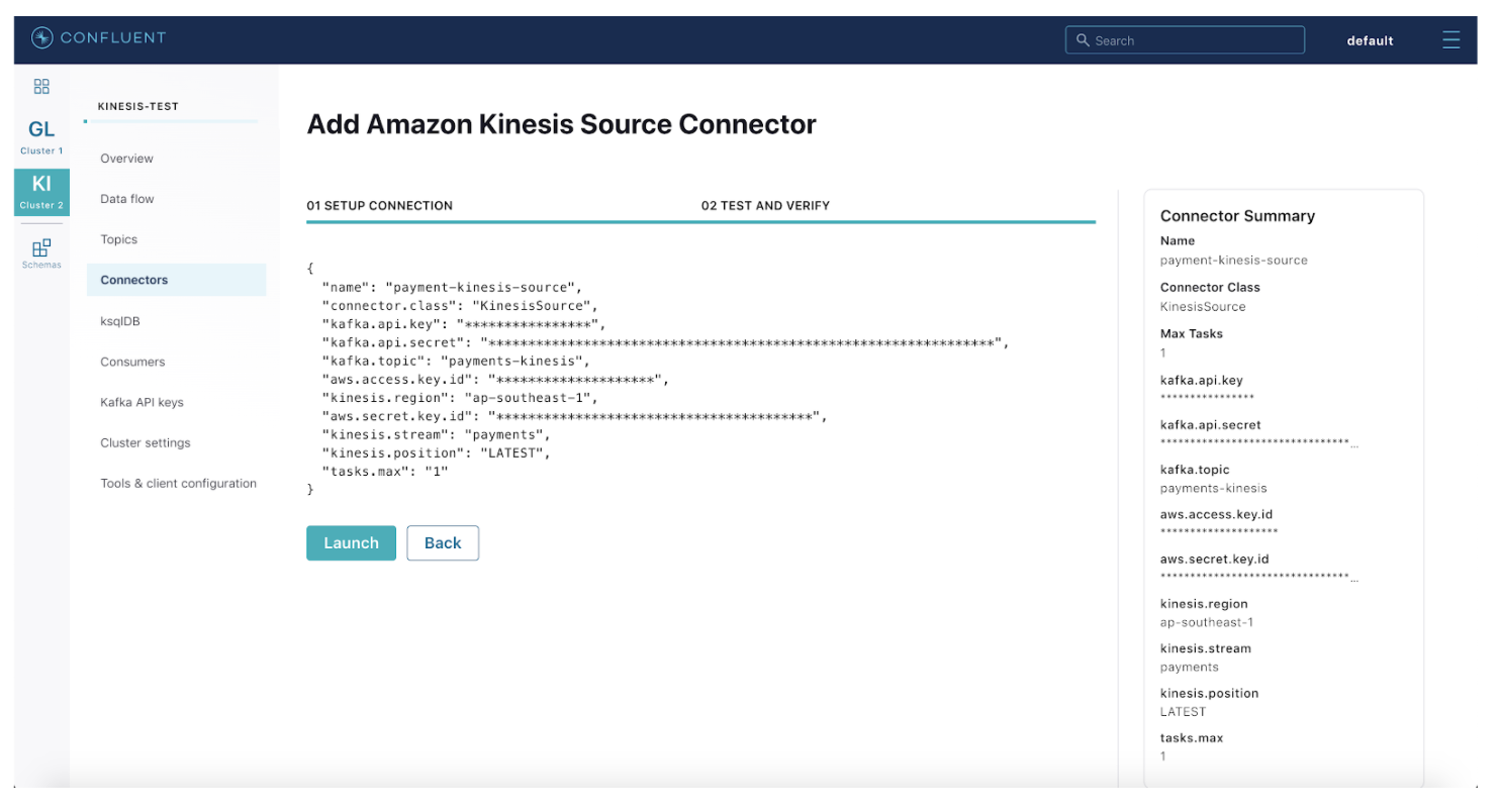 Add Amazon Kinesis Source Connector