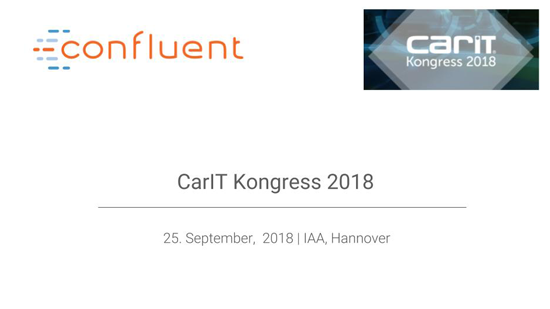 CarIT Kongress: Book an appointment with the Kafka experts