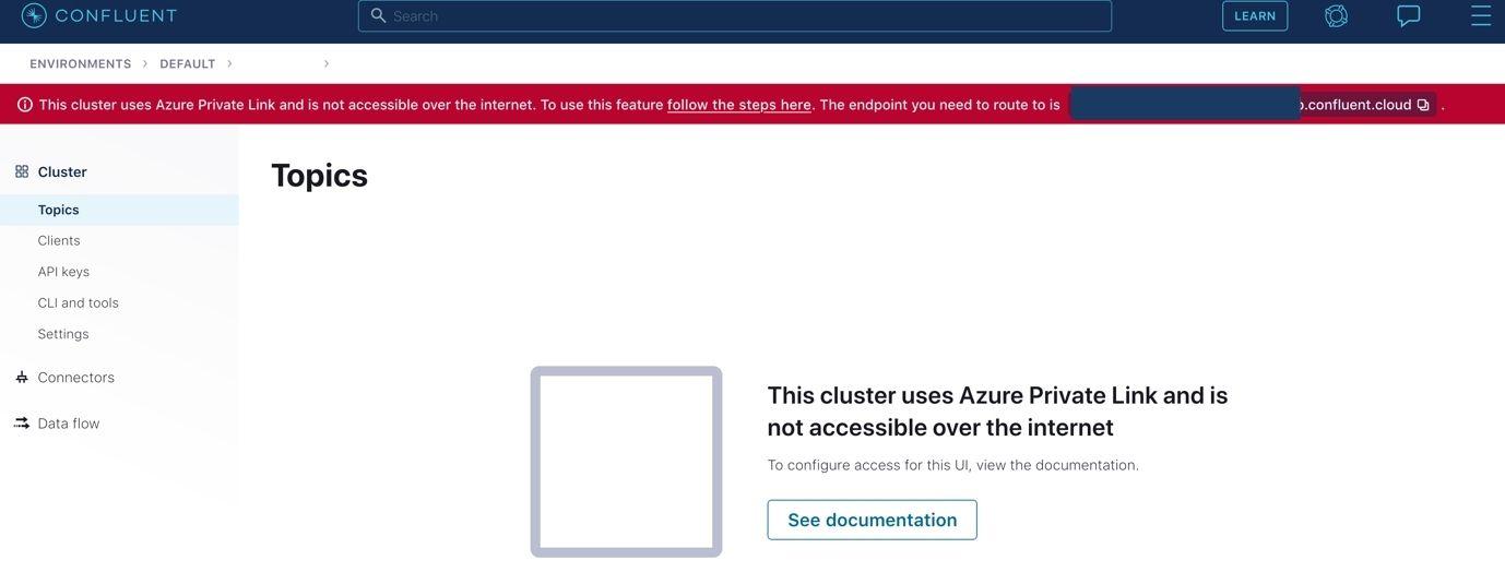 Configure internal access to Confluent components.
