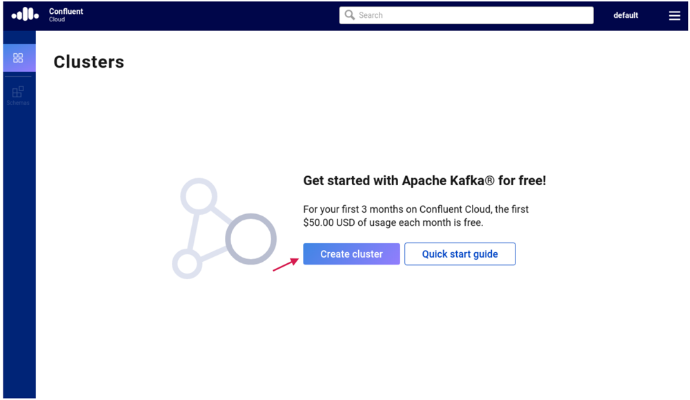 Get started with Apache Kafka® for free! | Create cluster