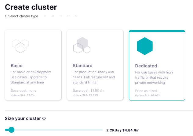 Create a dedicated cluster