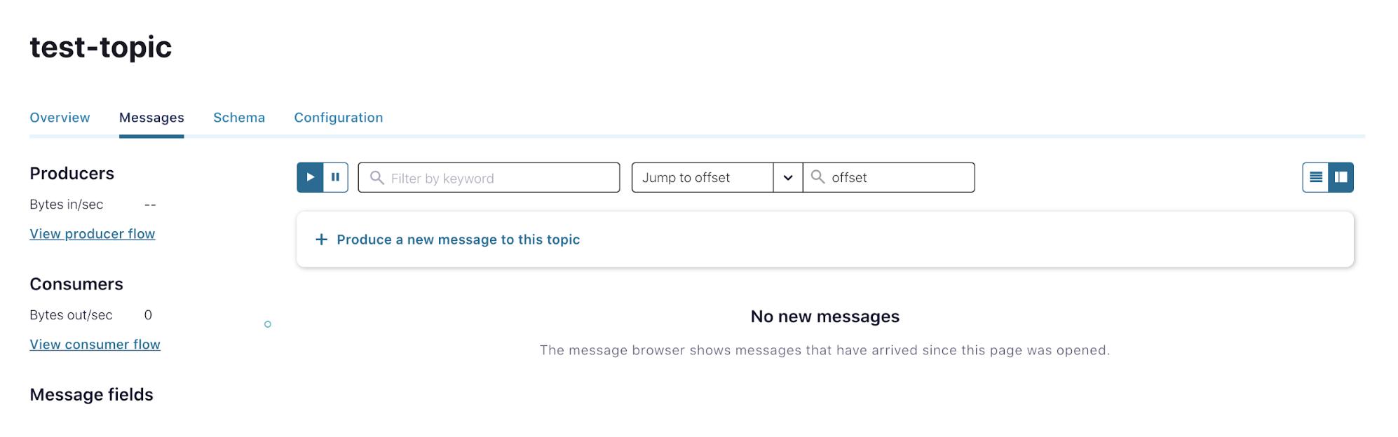 Creating Kafka messages in Confluent Platform