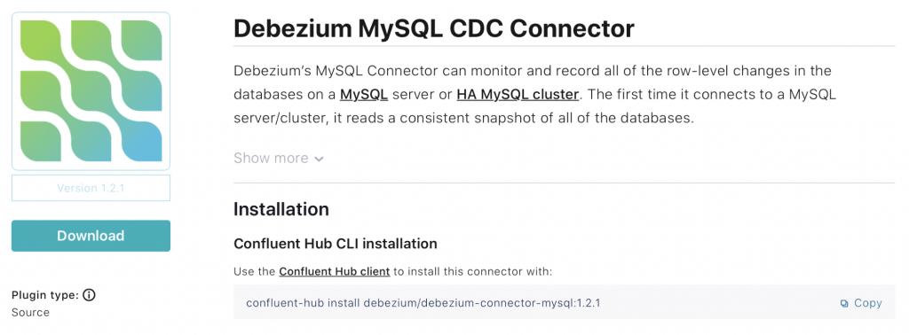 debezium mySQL CDC connector