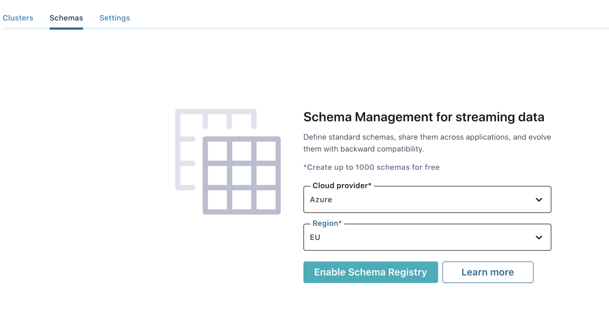 Enable Schema Registry