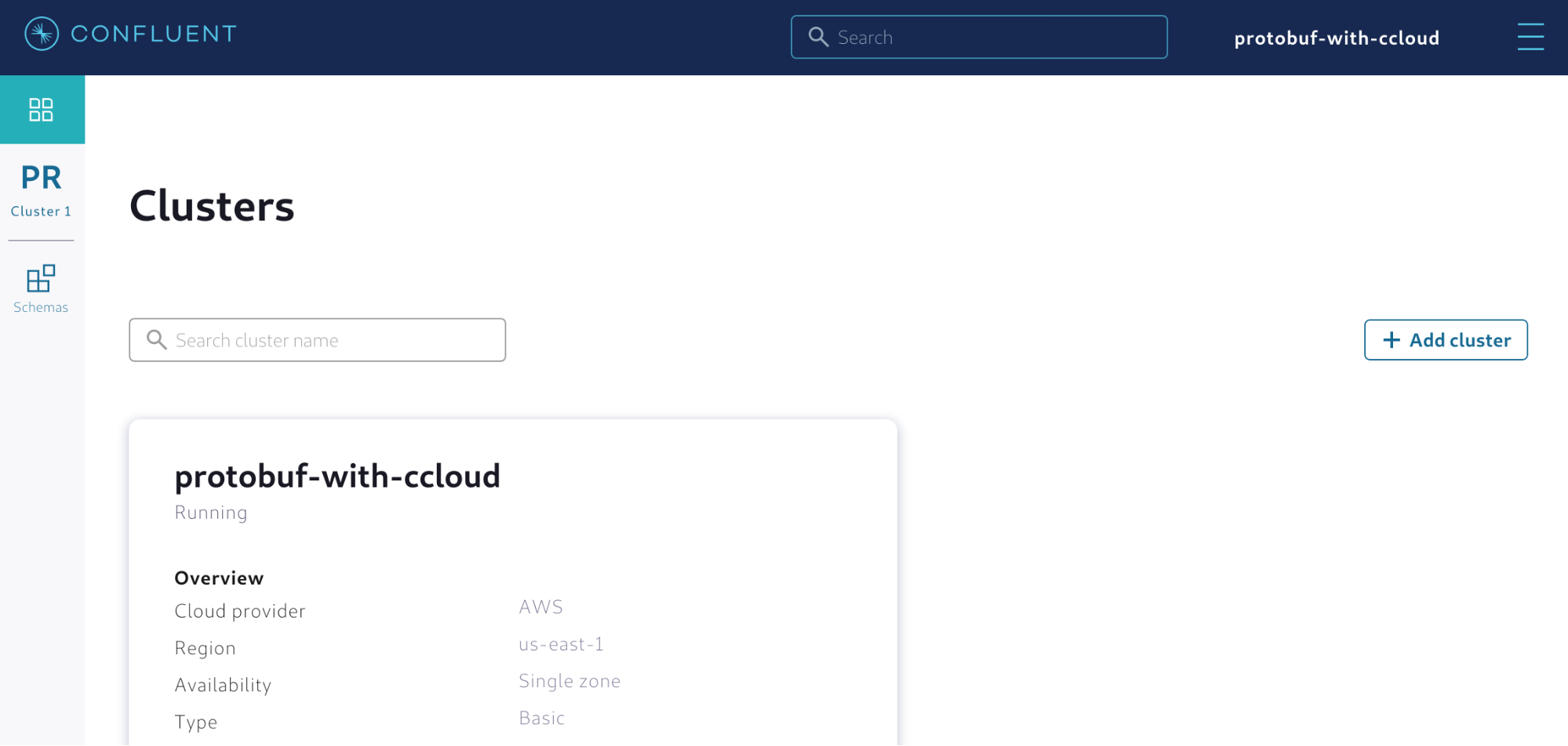 Enabling a managed Schema Registry in Confluent Cloud