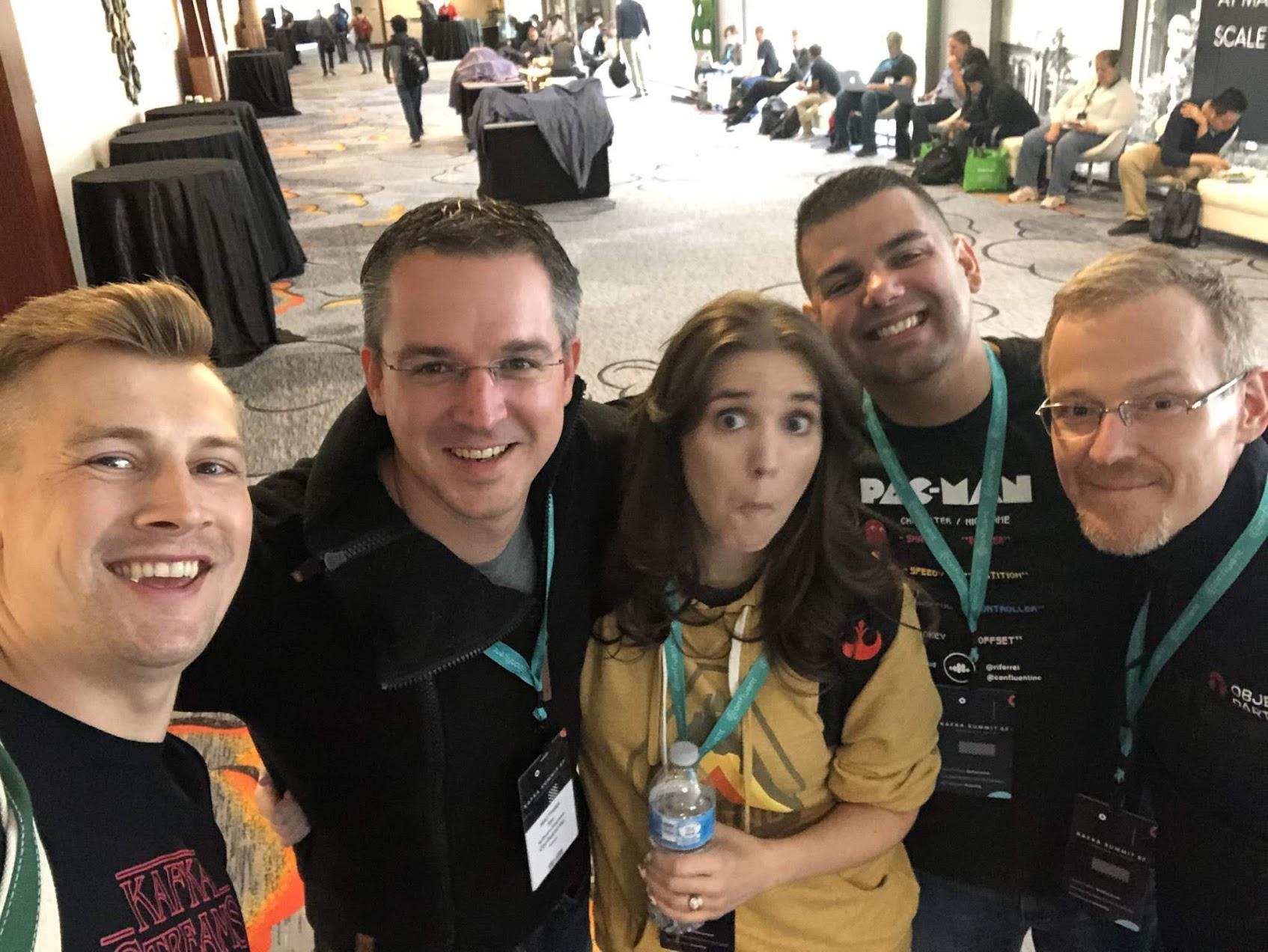 Confluent team members at Kafka Summit