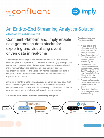 End-to-End Streaming Analytics - Imply and Confluent