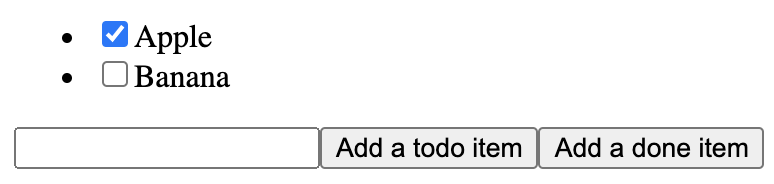 Items in TodoList