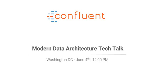 Modern Data Architectures Tech Talk