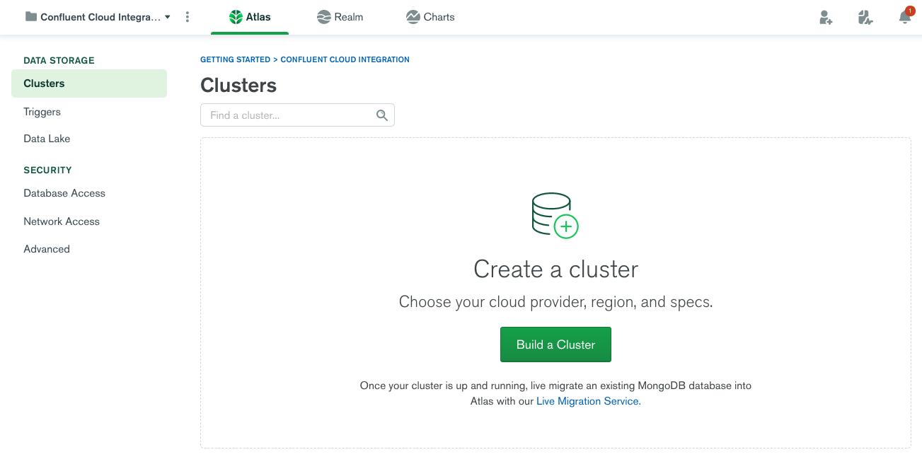 Build a cluster in MongoDB Atlas