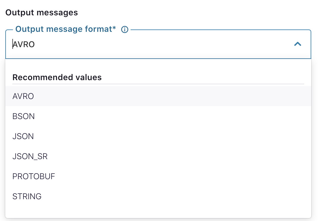 Output messages