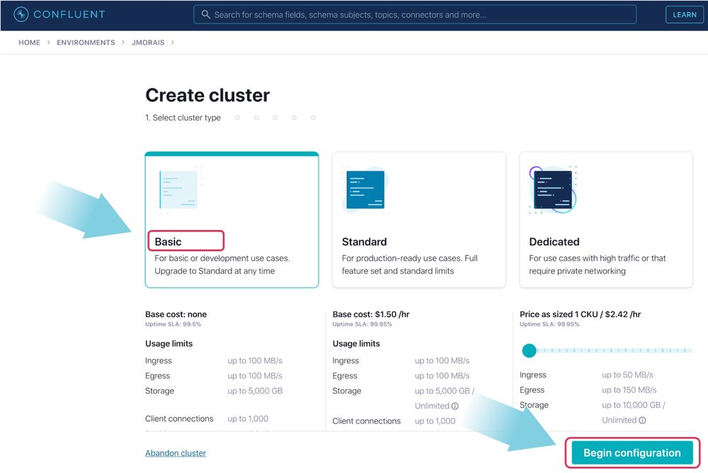 Select basic cluster type