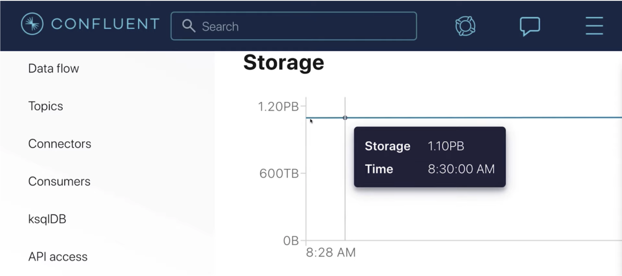 Infinite Storage enables you to elastically retain infinite volumes of data while only paying for the storage that you actually use.