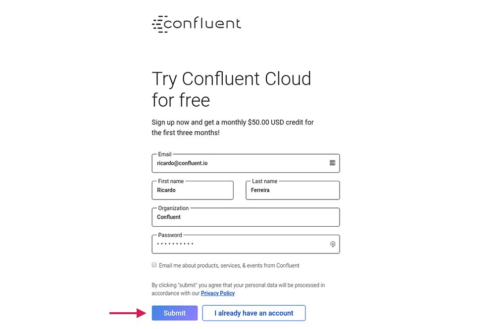 Try Confluent Cloud for free
